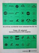 10/1973 PUB GENERAL ELECTRIC CF6 ENGINE DC-10 29 AIRLINES PIA SAS VARIG AD