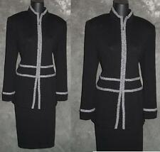 BEAUTIFUL St John collection jacket black  knit long suit blazer size 6