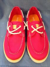 Size 6 Nautica Hot Pink Slip On Canvas Style Shoes Orange Trim New