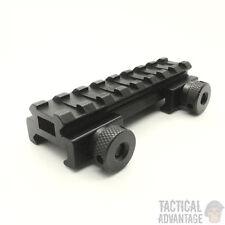 Low Profile 20mm Weaver Picatinny Rifle Scope Riser Rail Mount 8 Slot QD UK