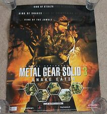 Metal Gear Solid 3 Store Display Poster Promo Employee Playstation 2 PS2 Merch
