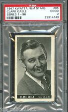 1947 Kwatta Film Stars Card #85 CLARK GABLE Gone With The Wind PSA 2 Rare!!