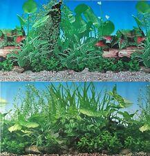 """Aquarium Background Decoration 2 Sided Plants Aquarium 48"""" x 19"""""""