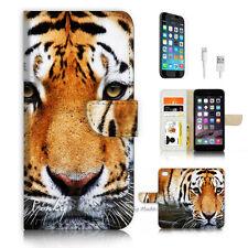 iPhone 7 PLUS (5.5') Flip Wallet Case Cover P3367 Tiger