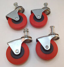 "Heavy-Duty 2.5"" Low Profile Swivel Caster Wheels Creeper Cart Wheels - Set of 4"
