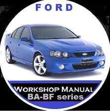 FORD BA-BF FAIRMONT FALCON  XR6 XR8 FPV GTP UTE WAGON SEDAN REPAIR MANUAL CD
