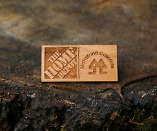 """""""The Home Depot McFarland Cascade"""" Wood Lapel Pin Pinback Etched"""