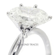 2.33 CT F-SI3 Excellent Oval Genuine Diamond 14k Gold Classic Style Ring 2.09mm