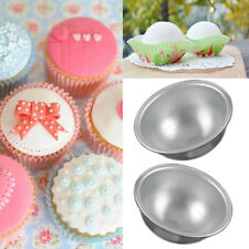 1Pcs Useful Aluminum Ball Sphere Bath Bomb Mould Pastry Cake Baking Mold Tool