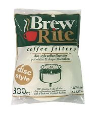 Coffee Filters for Norelco I Disc Flat Paper Filters - 300ct - NEW