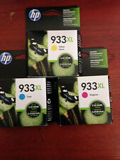 HP 933XL MAGENTA, YELLOW, & CYAN GENUINE HIGH YIELD VALUE PACK INK CARTRIDGES