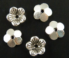 200pcs Tibetan Silver Nice Flower Bead Caps Jewelry DIY 10x3mm