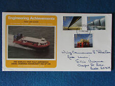 First Day Cover - Engineering Achievements-Hovercraft-Stamped-25/5/83 London EC