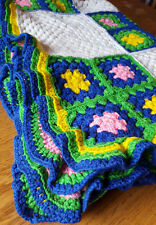 "Handmade Granny Square Blanket-40x60""-Homemade-Knit"