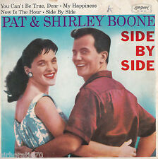 PAT & SHIRLEY BOONE Side By Side 1960s Mono EP