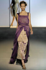 Deep purple silk-chiffon gown by Alberta Ferretti I40 GB 8 US 4 D 36 F 36