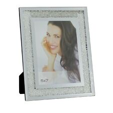 New Mirrored Photo Frame filled with Swarovski Crystals Holds 5x7 Picture Modern