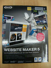 WEBSITE MAKER 5 MAGIX SOFTWARE NUOVO WINDOWS XP VISTA 7 MAC