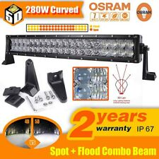 "5D 22""Inch 280W OSRAM Curved Led Work Light Bar Spot Flood Offroad 4WD Truck ATV"