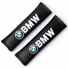 2x Bmw Racing Carbon Fiber Seat Belt Shoulder Pads Cushions Cover For Bmw