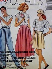 Easy McCalls Pattern 4273 Misses Skirt Pants Shorts Size 10 COMPLETE