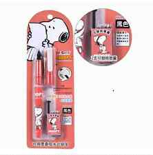 M&G Office School Snoopy Black Ink Fountain Pens Writing Equipment(2 inks)