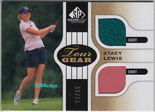 2012 SP GAME USED GOLF TOUR GEAR: STACY LEWIS #24/35 DUAL EVENT-WORN SHIRT
