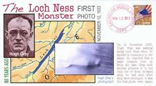 """Coverscape computer designed 80th first photo of """"Loch Ness Monster"""" event cover"""