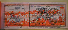 Vintage The British-Columbia KENTUCKY DERBY Lottery Ticket Never Sold Unused