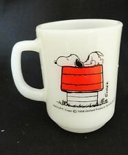 Fire King SNOOPY I THINK I'M ALLERGIC TO MORNINGS MUG Sign Fire King Oven Proof