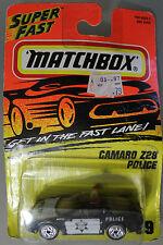 Matchbox 1:64 Scale 1995 Super Fast CAMARO Z28 POLICE