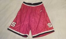 North Carolina State Wolfpack Red Shimmer Basketball Shorts Large adidas NWT ACC