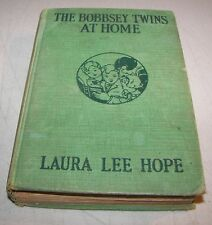 THE BOBBSEY TWINS AT HOME LAURA LEE HOPE H/C 1916