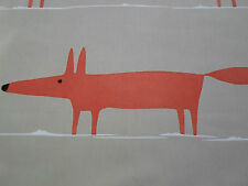 Harlequin Scion Fabric 'Mr Fox' 2.5 METRES Natural/Paprika Col 100% Cotton