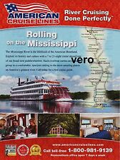 AMERICAN CRUISE LINE cruises 2016 print AD paddlewheeler riverboat MISSISSIPPI