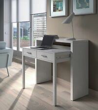 Ambra White Gloss Dressing Table Console Table Computer Desk Extending Furniture