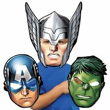8x Avengers Thor Hulk Captain America Card Mask Birthday Party Favour Girls Boys