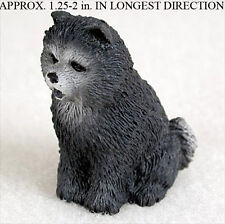Chow Chow Mini Resin Dog Figurine Statue Hand Painted Blue