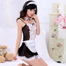 Halloween Costume French Maid Princess Cosplay Fancy Dress Lingerie Uniform New