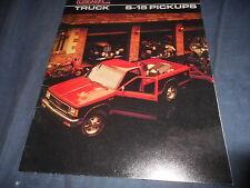 1986 GMC S15 Pickups Full Line Color Brochure Catalog  Prospekt