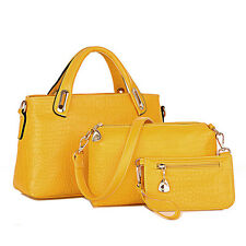 Womens Handbag Shoulder Bags Tote Purse Leather Ladies Messenger Hobo Bag Yellow