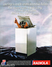 PUBLICITE ADVERTISING 055  1988  RADIOLA    le lave linge