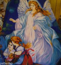 BIG GUARDIAN ANGEL POLAR FLEECE BLANKET NEW W CHILDREN