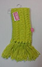 """WINTER CABLE KNIT SCARF W/ FRINGE  ASSORTED COLORS  (60"""" LONG X 6"""" WIDE)"""
