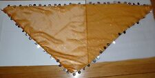 Peach Egyptian head scarf with coins  middle eastern belly dance women