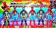 "new Kids Childrens 4"" Spiderman Action Figures Super Hero Fun Play Set"