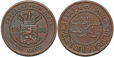 NETHERLANDS EAST INDIES 2 1/2 CENTS 1858 KM#308