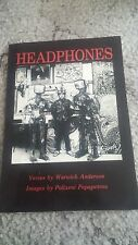 WARWICK ARMSTRONG SIGNED BOOK. HEADPHONES
