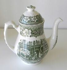 "English Teapot By ""Royal Tudor Ware"" Staffordshire, England ""Coaching Taverns"""