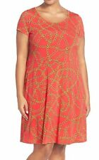 Michael Kors Plus Size 2X Keegan Cap Sleeve Fit And Flare Dress, Retail $110